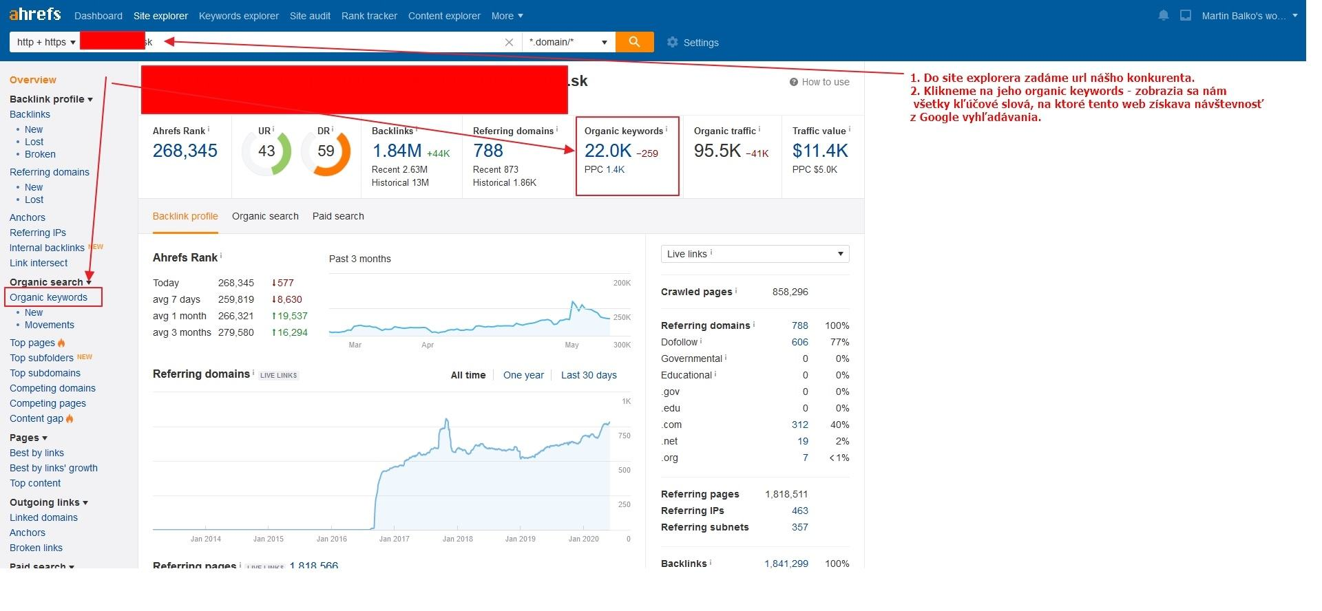 Analýza web stránky